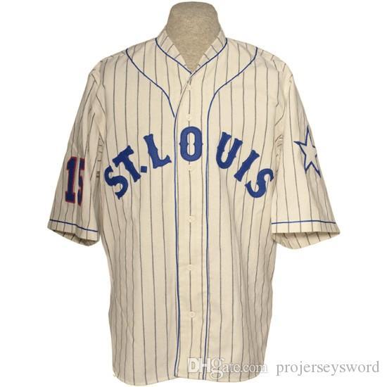 St. Louis Stars 1931 Home Jersey 100% ricamo ricamo logos vintage baseball maglie personalizzate qualsiasi nome qualsiasi numero spedizione gratuita