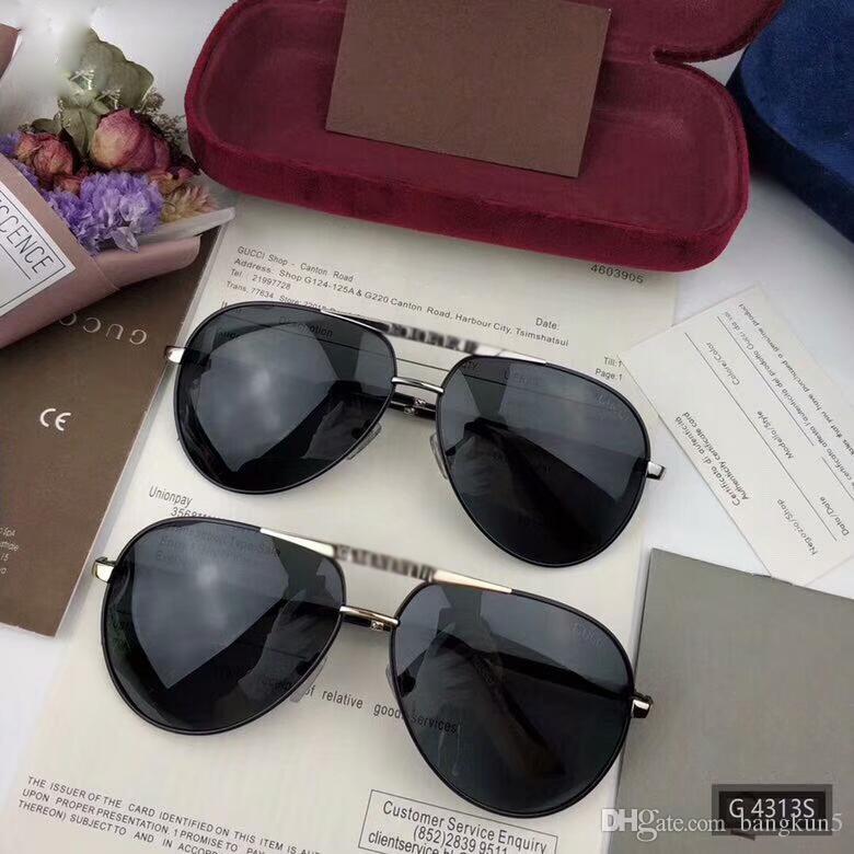 Compre Novos Designer De Moda Óculos De Sol Piloto Full Frame Memória Liga  Simples Verão Popular Estilo G4313s Modelo Uv 400 Óculos De Proteção Ao Ar  Livre ... ee99fbdf0e
