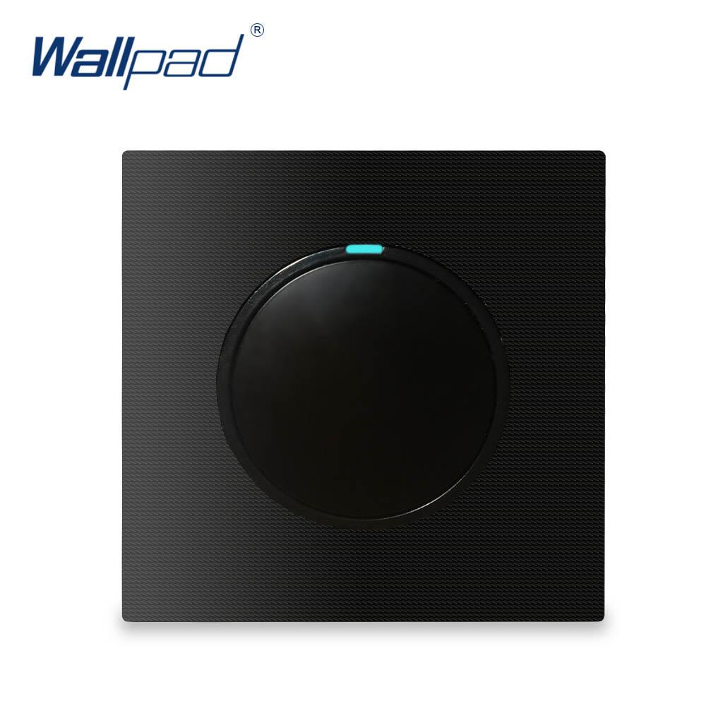 2018 Wallpad 1 Gang 2 Way Switch Push Button On Off Wall Light Wayswitch With Led Indicator Aluminum Metal Panel For Lamp From Biaiju 3289