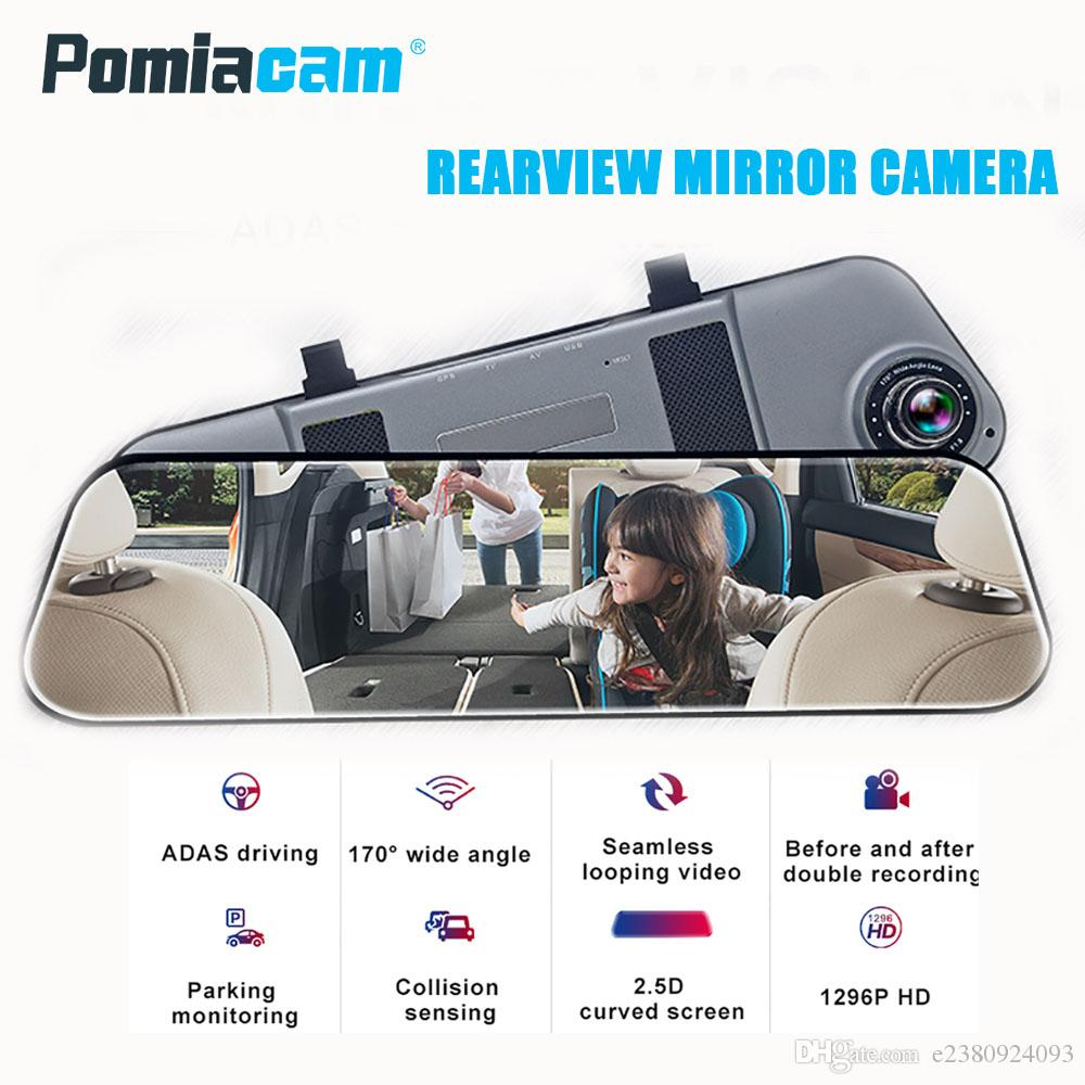 E5 Rearview Mirror Car Dvr Stream Rear View Dash Camera 5inch Home 2channel Remote Mobile With Shock Sensor And Wifi Ips Touch Screen Full Hd 1080p Recorder At