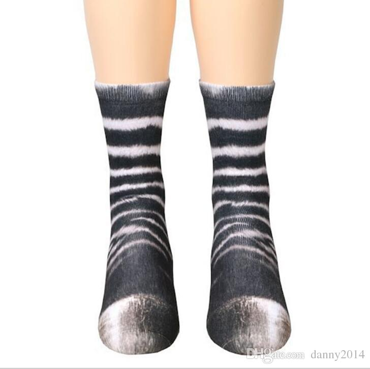Fashion 3D printed odd future basketball skate sports socks women men hip hop socks animal paws foot hoof sock