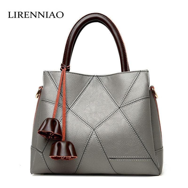 LIRENNIAO 2018 Fashion Cowhide Leather Bag Oblique Cross Handbags Korean  Casual Patchwork Bag Design Handbag Wholesale Hobo Purses From Romantravel