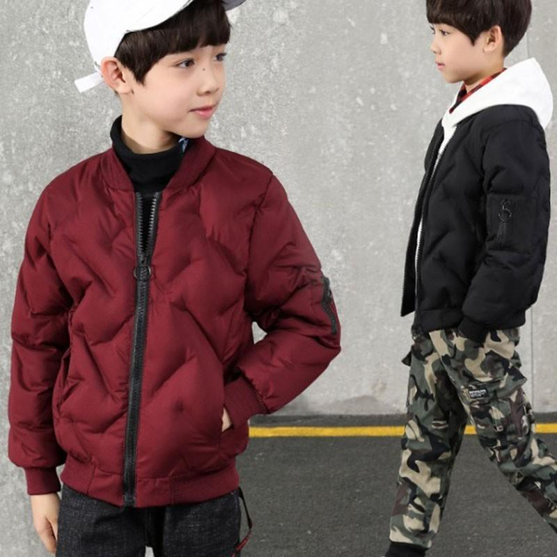 847c5dc46 2018 Winter Children Outerwear Coats For Boys Fashion V Neck Cotton ...