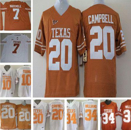 c69f91b28 ... spain men texas longhorns shane buechele college jerseys ncaa 10 vince  young 20 earl campbell 34