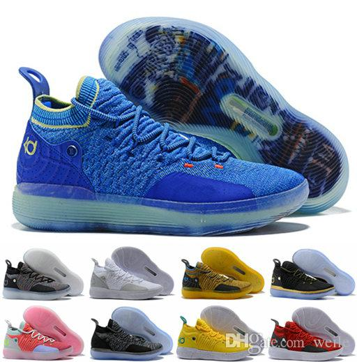 05c16c16138f 2019 2018 KD 11 BHM Paranoid Home Chlorine Blue Grey Yellow Pink Kevin  Durant XI Basketball Shoes 11s KD11 Men Classic Sport Sneakers 40 46 From  Weile