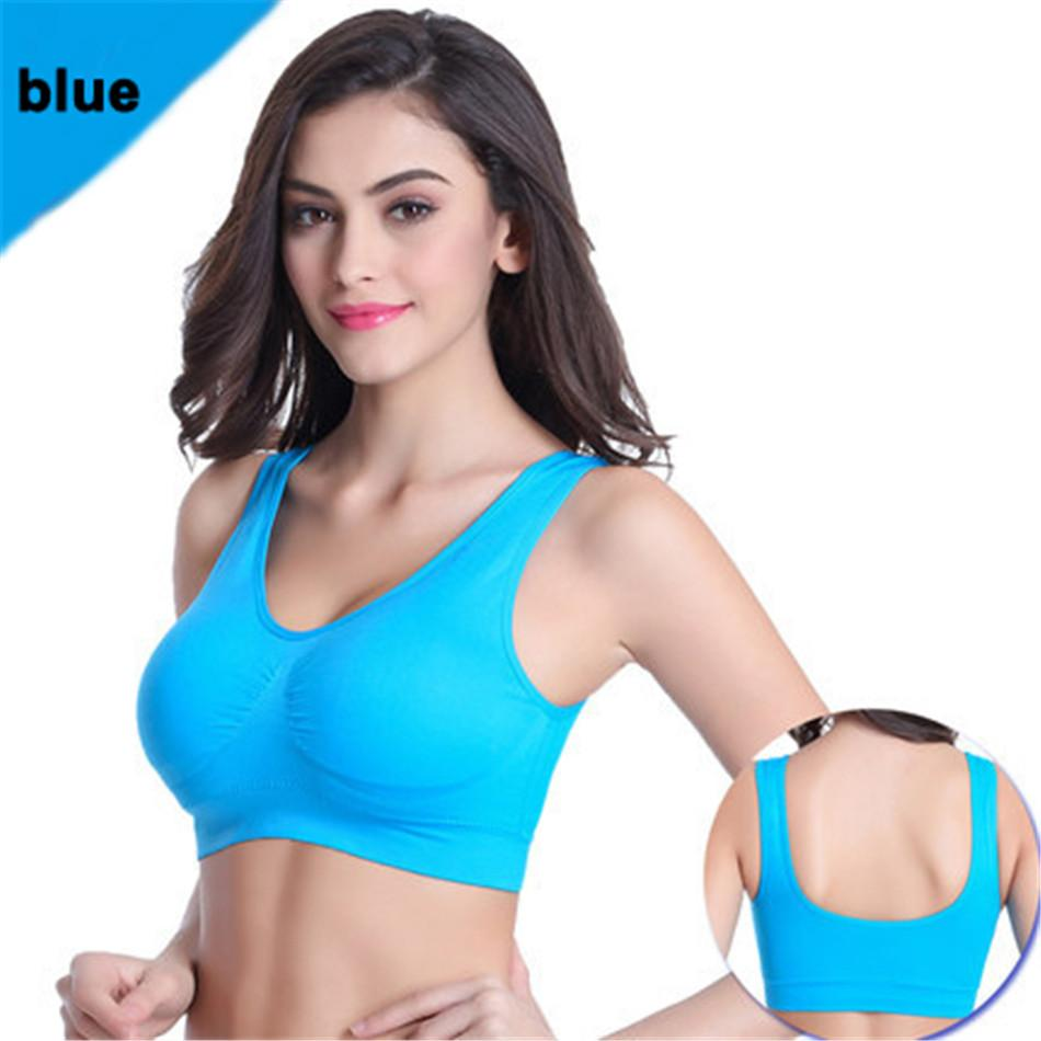 8e1a7cb36f472 2019 Women Sports Bra Plus Size Professional Absorb Sweat Top Athletic  Running Gym Fitness Seamless Padded Vest Tanks From Sports86