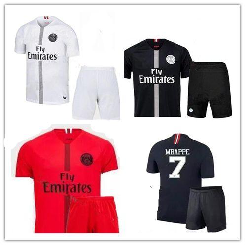 6bc0d6abf 2019 Adult Kit 18 19 Psg Champions League Soccer Jersey Paris Mbappe Black  2018 2019 Maillot De Foot CAVANI PRE MATCH Men Sets Football Shirts From  Neymar10 ...