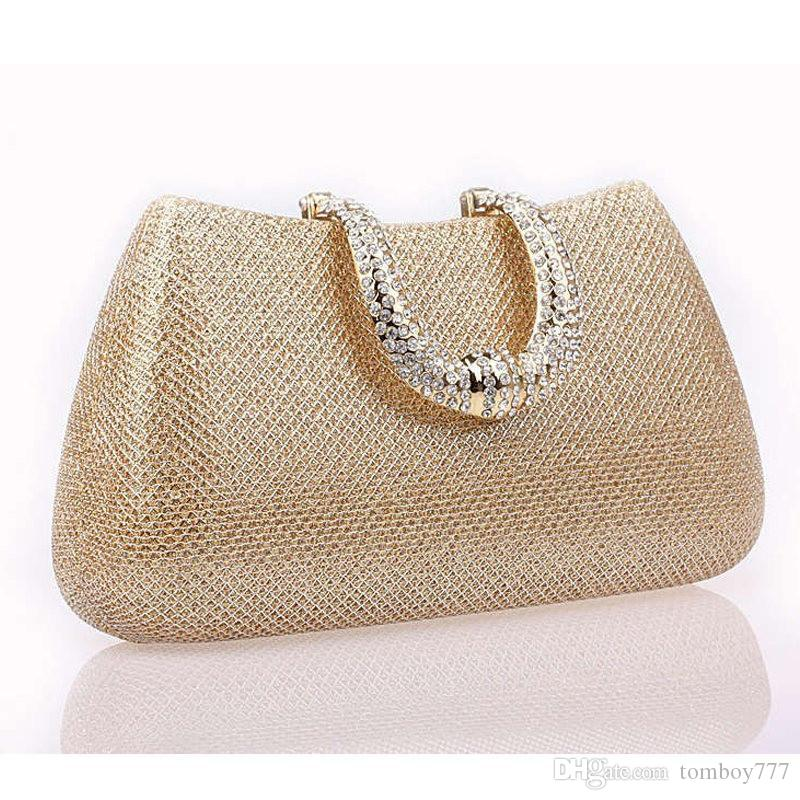 3922a447b4 2018 New Crystal U Diamond Clasp Clutch Bags Glitter Silver Evening Bags  Gold Day Clutch Party Purse Woman Wedding Handbag Li219 Bags For Men  Satchels From ...