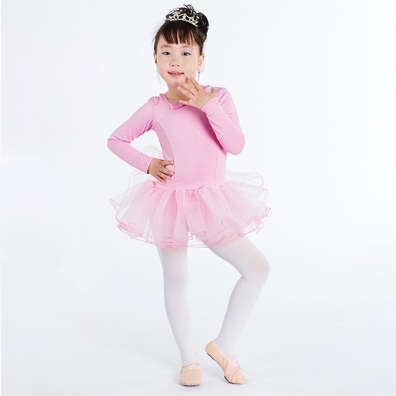e013f99f94 Compre Crianças Collant Ginástica Leotard Ballet Collant Dress Girl  Competição Prática Saia De Poliéster Saia De Balé Crianças Traje De  Purlove