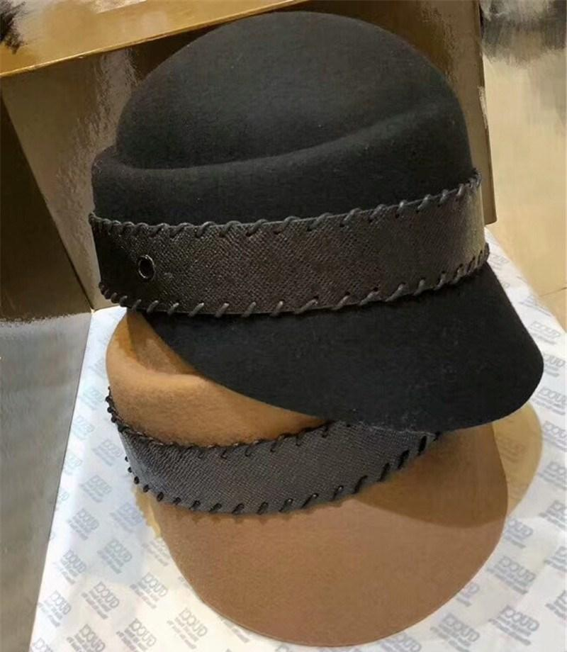 8075edcfbf6 New Lady Winter Hat Luxury Women Brand Designer Cashmere Cloches Hat  Elagant Top Hat With Decor Straps Top Quality Female Warm Bucket Hats UK  2019 From ...