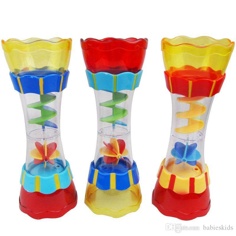 New Design Baby Plastic Bath Toys Swim Water Whirly Wand Water Cup Rotary Water Drain Column Beach Toys For Children Kids Boys Gift