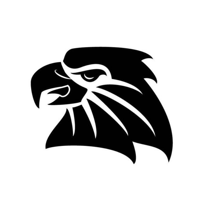 Eagle Head Cutting Head Car Sticker Vinyl Car Packaging Body Decal Fittings  Animal Eagle