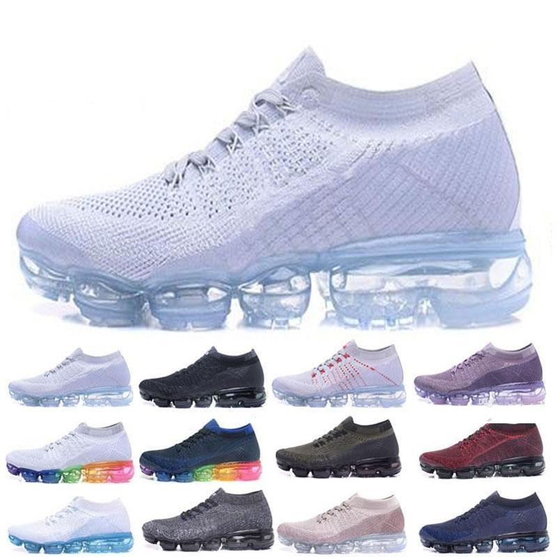 new product a30bc 58276 Acquista Vapormax Air Shoes Uomo Donna Scarpe Casual Design Shock Nero  Bianco Scarpe Da Ginnastica Outdoor Scarpe Da Ginnastica Da Trekking Scarpe  Da ...