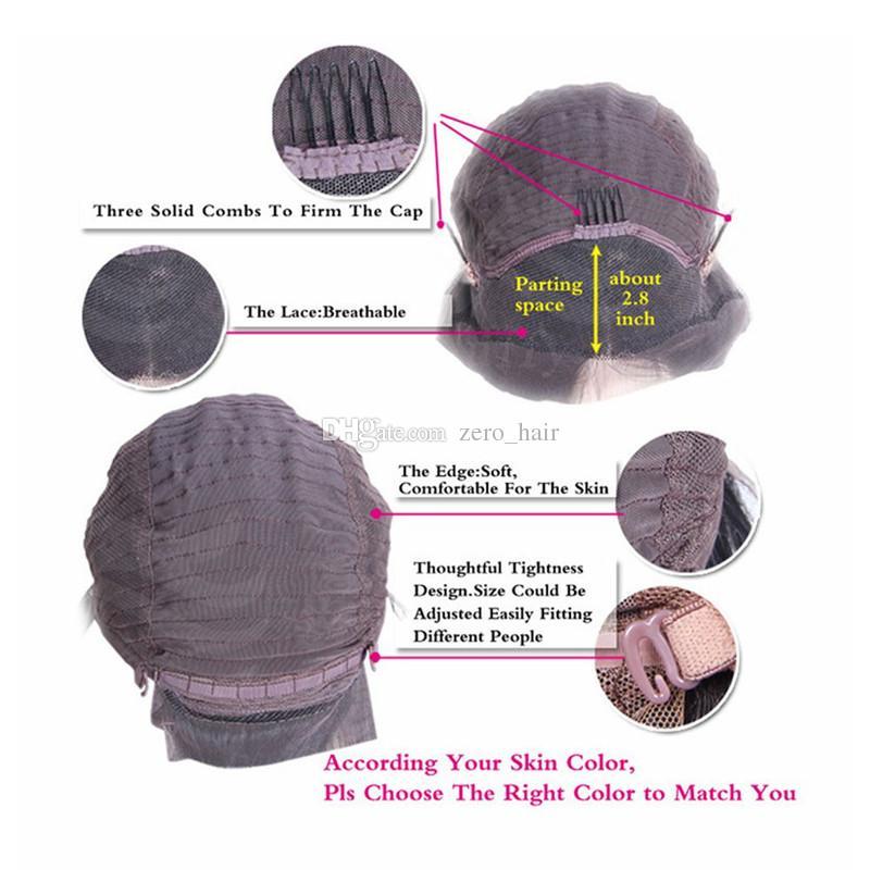 Pelucas llenas brasileñas del cordón de la seda del pelo humano Onda del cuerpo 5 * 4.5 '' Peluca superior del frente del cordón de seda Peluca superior sedosa natural de la raya