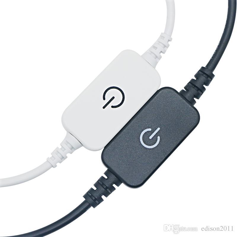 Edison2011 сенсорный светодиодный диммер Сенсорный выключатель с DC женский штекер для одного цвета светодиодные полосы лампы DC 12V-24V 6A черный / белый