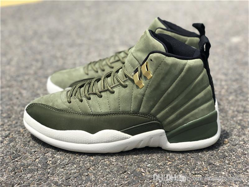 2018 Authentic 12 Graduation Pack XII Man Basketball Shoes 12s Chris Paul  Real Carbon Fibre Green Suede Sports Sneakers With Box Online Shoes Cheap  Shoes ... 932f0475e