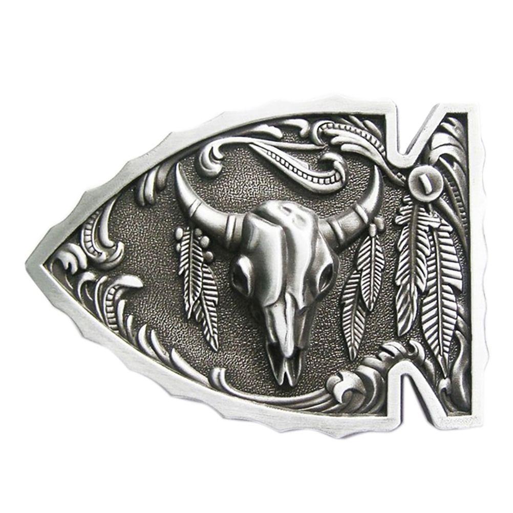 New Vintage Arrowhead Bull Native American Belt Buckle Gurtelschnalle Boucle  de ceinture 950e82158a3