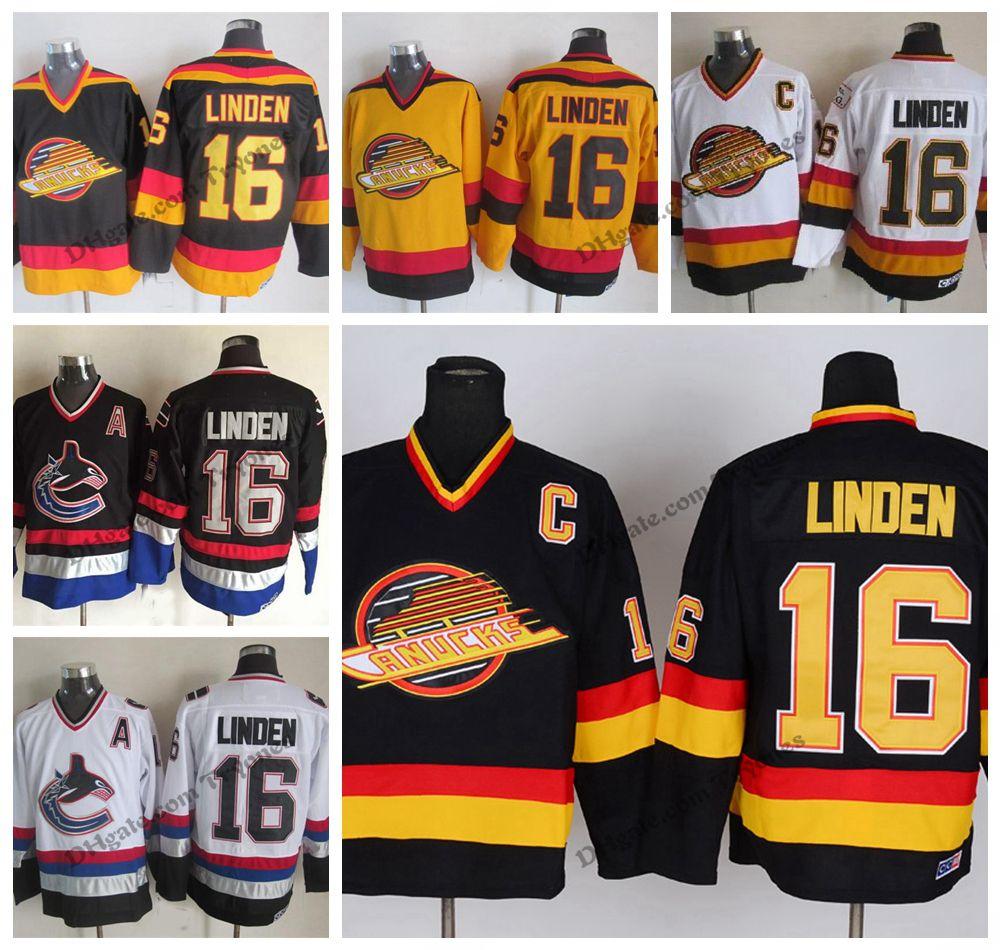 92a4b2949 2019 Vintage Vancouver Canucks Trevor Linden Hockey Jerseys Mens ...