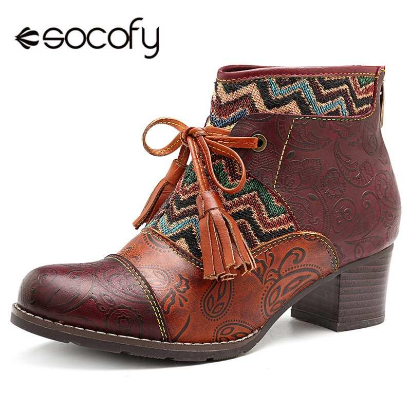 Großhandel Socofy Bowknot Bowknot Bowknot Quaste Frauen Stiefel Aus Echtem Leder fb5aa9