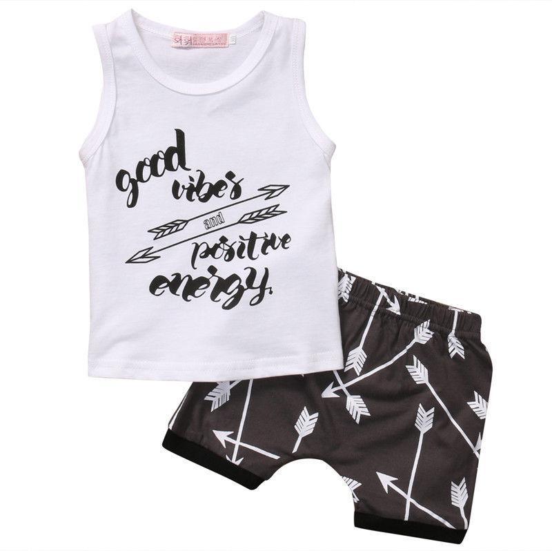 46ec33fefcda Infantil Toddler Newborn Kids Baby Boys Arrow T Shirt Tops Shorts Pants Casual  Outfit Clothes Summer Suit Set UK 2019 From Bparrot love999