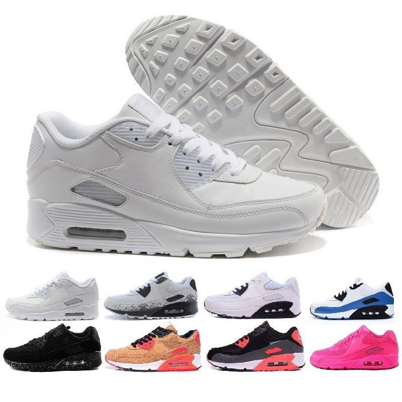 timeless design d8fda b361e Compre Nike Air Max Airmax 90 Nueva Llegada Todo Negro Air 90 Deportes De  Hielo Zapatos Corrientes Mujeres Hombres Oregon Ee.Uu.