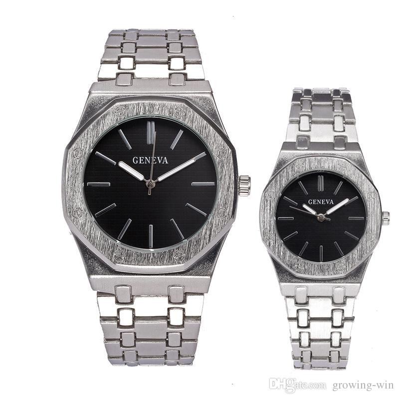 acc39d24d3 Luxury Mens Women Alloy Metal Steel Simple Lovers Couple Watch Fashion  Unisex Ladies Casual Pair Dress Quartz Business Watches Watches Cheap  Watches On Sale ...