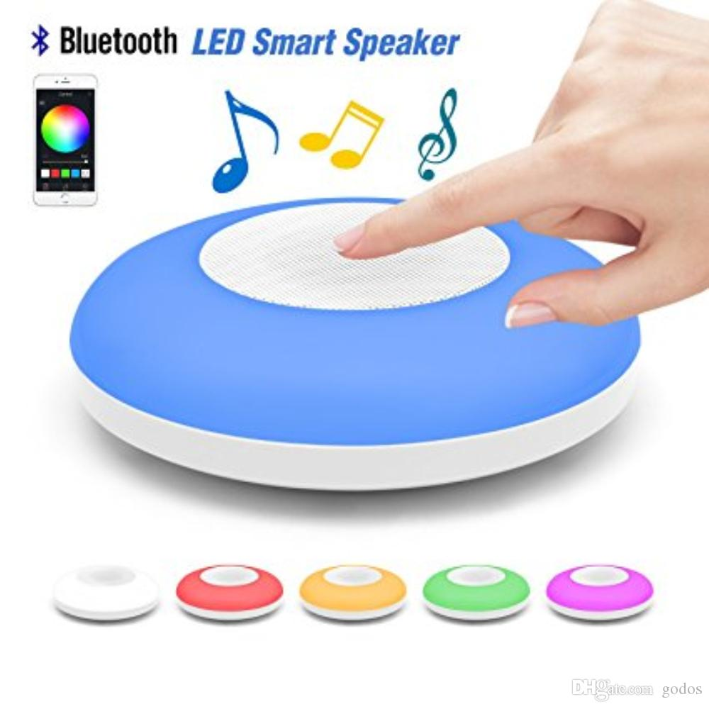 Outdoor waterproof Bluetooth Speaker Colorful atmosphere night light UFO Lamp Hi-Fi Remote Controlled by iOS/Android Cell Phone Perfect