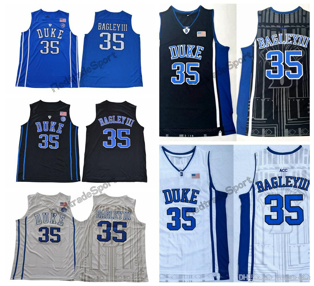 50ff1b01c58 2019 Mens Duke Blue Devils Marvin Bagley III  35 College Basketball Jersey  Cheap Black White Blue Marvin Bagley III Stitched Basketball Shirts From ...