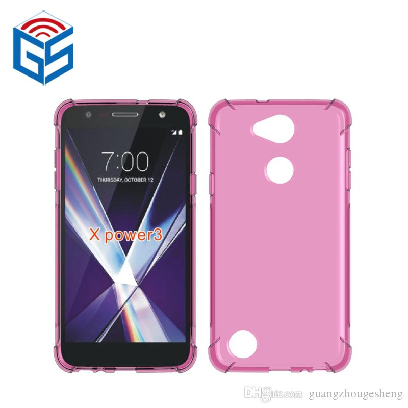free shipping fdc0c 7ebbe For LG X Power 3 X Power3 X510WM Clear Case Soft Gel Shockproof Transparent  TPU Cover