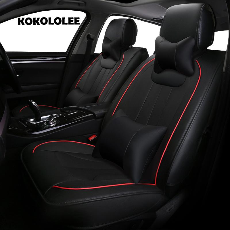 Pu Leather Car Seat Cover For Ford Focus 2 Mondeo RT Escort Explorer F 150 Mustang Edge Fiesta Kuga Auto Styling Covers Custom A