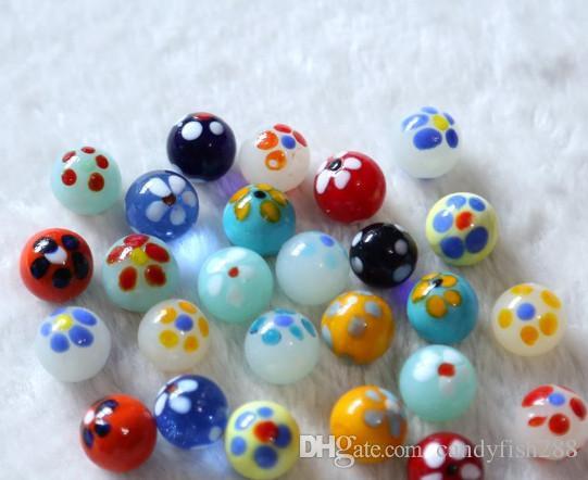 Ev bahçe 16mm renkli ifadeler, cam topları, cam boncuk çocuklar için hediyeler bebek dostu oyuncaklar