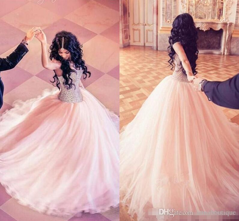 Major Beading Quinceanera Dresses 2018 Modest Sweetheart Tulle ...