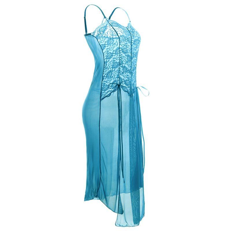Ropa interior de mujer Lencería Babydoll Sexy Lace Nightwear Dress + G-string Set ropa de dormir más el tamaño M-3XL