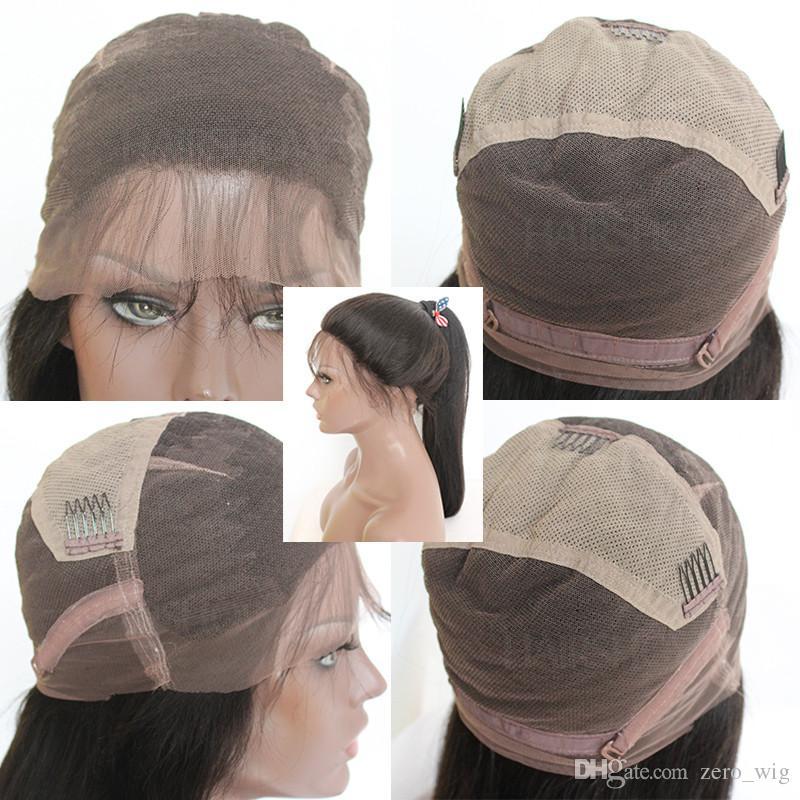 5x4.5 '' Soie Top Full Lace Perruques Cheveux Vierges Brésiliens Vague Profonde Vague Sans Gluettes Soie Top Lace Front Perruques Perruque de Base de Soie de Cheveux Humains