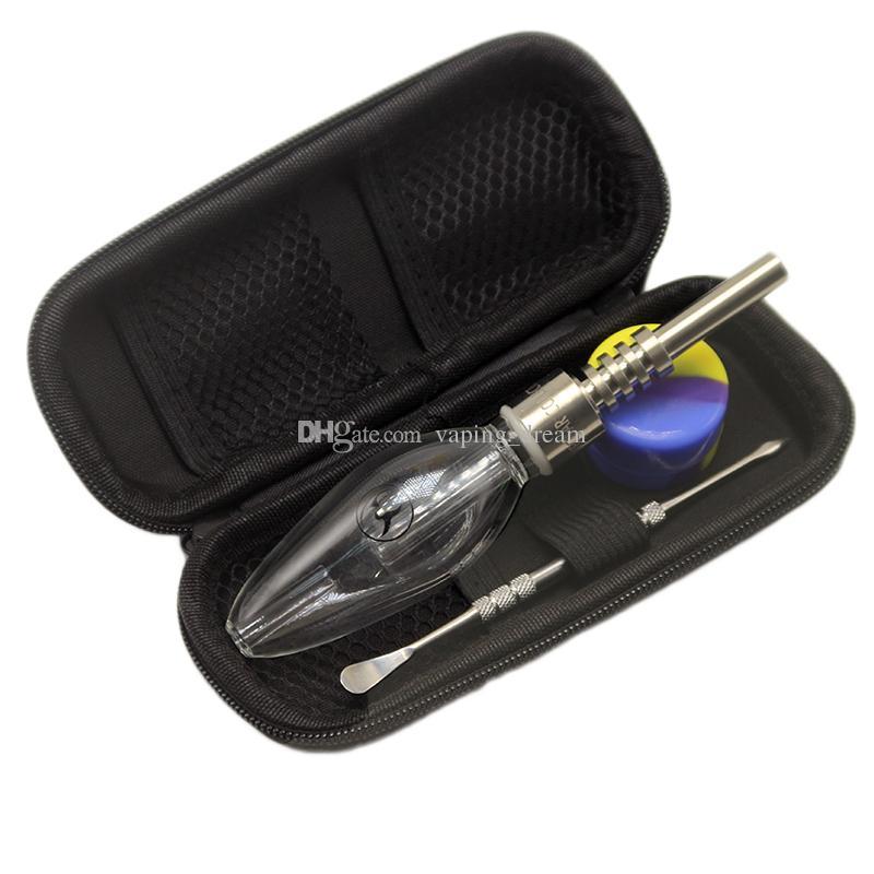 2018 новый дизайн Хони соломы Нектор Micro Nc набор с застежкой-молнией случае SS Dabber инструмент силиконовые банку Domeless Титана ногти