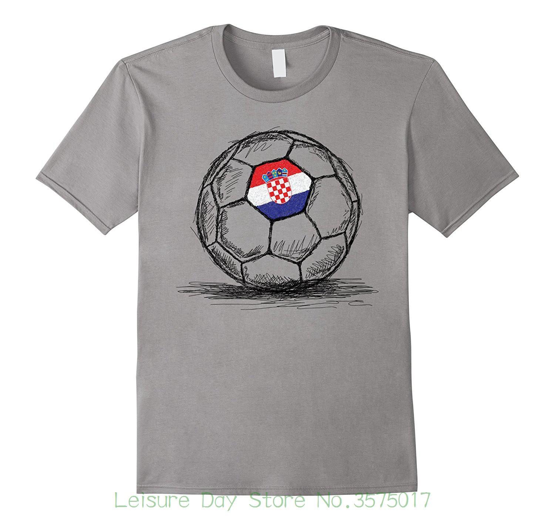 5bcdfed40 Tee Shirt Hipster Harajuku Brand Clothing T Shirt Croatia Croatian Hrvatska  Flag Design On Soccerite Ball T Shirt T Shirt Tee Best Funny T Shirts From  ...