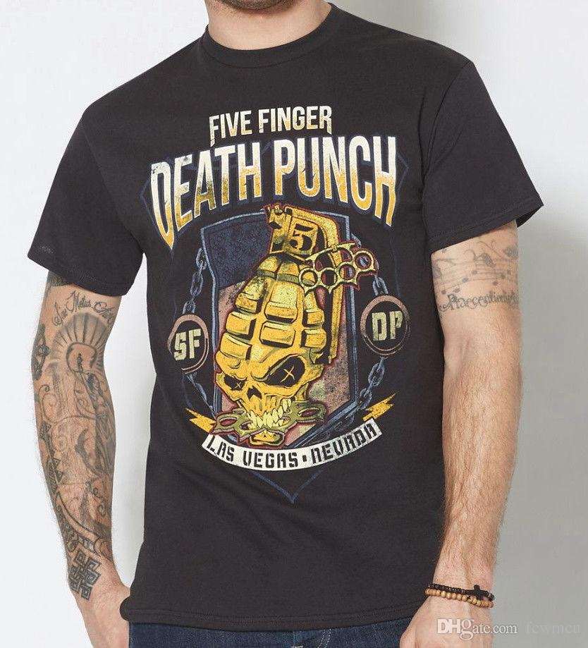 Five Finger Punch Grenade Shield Las Vegas Nevada T Shirt New Authentic Novelty T Shirt Funny Printed T Shirts From Shirts2you 10 66 Dhgate Com