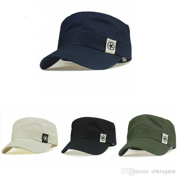 Compre Algodón Clásico Ejército Soldado Snapback Sombreros Militares  Bordado Estrella Parche Gorras De Béisbol Sombreros Planos Para CS Caza A   28.03 Del ... 6492757d927