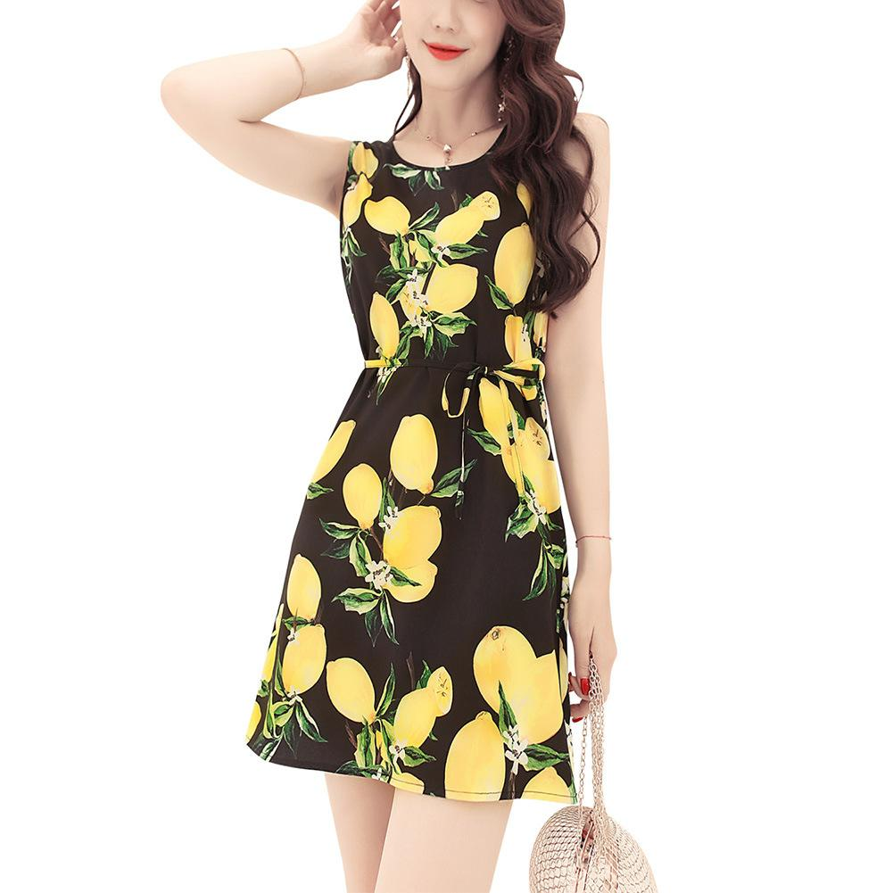 390ada253928df Girls Mini Dresses Print Casual Vest Dress Summer Women Sleeveless Slim Fit  Black Dress Plus Size Clothing Bridesmaid Dress Plus Size Formal Dresses  From ...