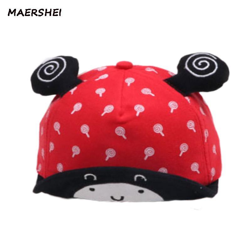 MAERSHEI Children s Hat Baby Boy Cartoon Hat Spring And Autumn Children  Soft Skull Baseball Cap Lollipop Snail Visor Kids Ha Brixton Hats Trucker  Cap From ... fd68236eb28