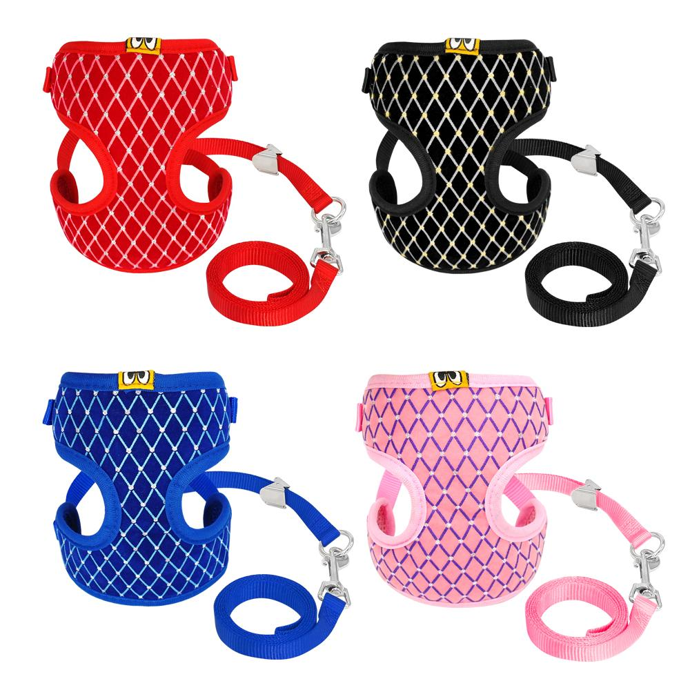 2019 Cute Cat Dog Harness Vest Breathable Mesh Pet Puppy Harness And
