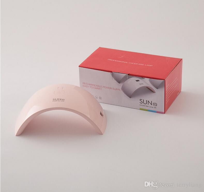 Professional 24W SUN 9C Nail Dry Lamp LED UV Light Toenail Dryer Polish Fingernail Gel Art Salon Tools
