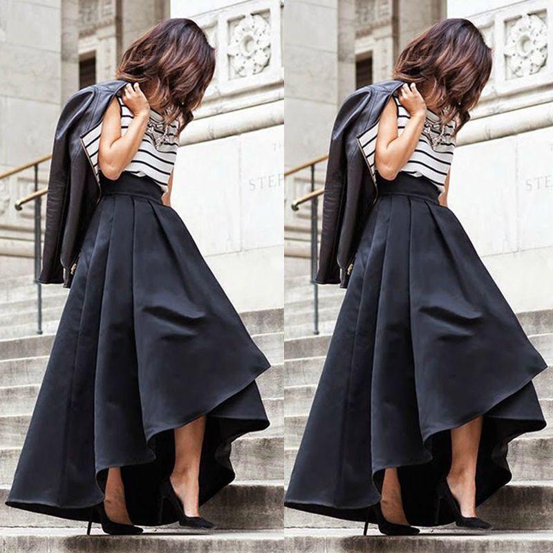 La Mujeres De Plisadas Estire Compre Cintura Las Faldas Alta qZwvP7tx17