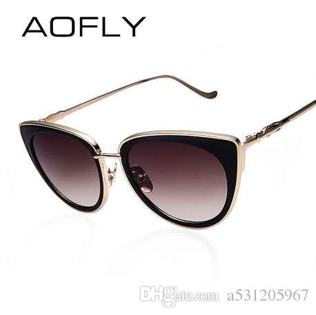 9a326233fb2e4 Großhandel Aofly Metallrahmen Cat Eye Frauen Sonnenbrille Weibliche  Sonnenbrille Berühmte Marke Designer Legierung Beine Gläser Oculos De Sol  Feminino Von ...