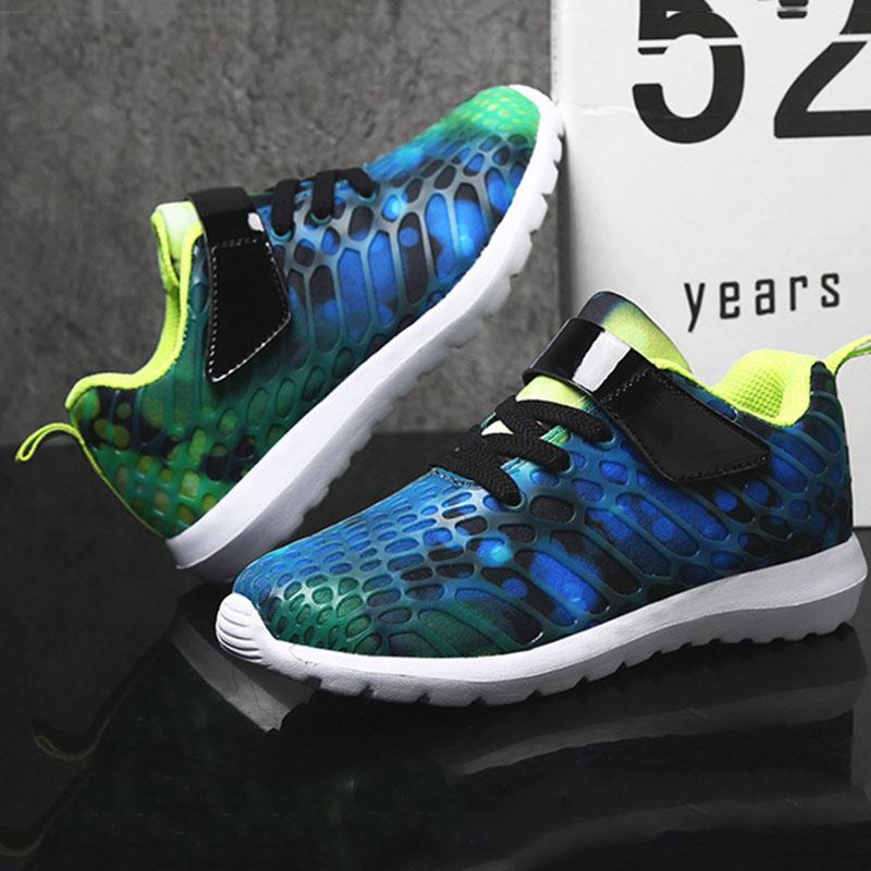 Mesh Per Sneakers Designer Magic Sportive Camouflage Casual Scarpe Trend Stickers Traspiranti Bambini WEH9I2YD