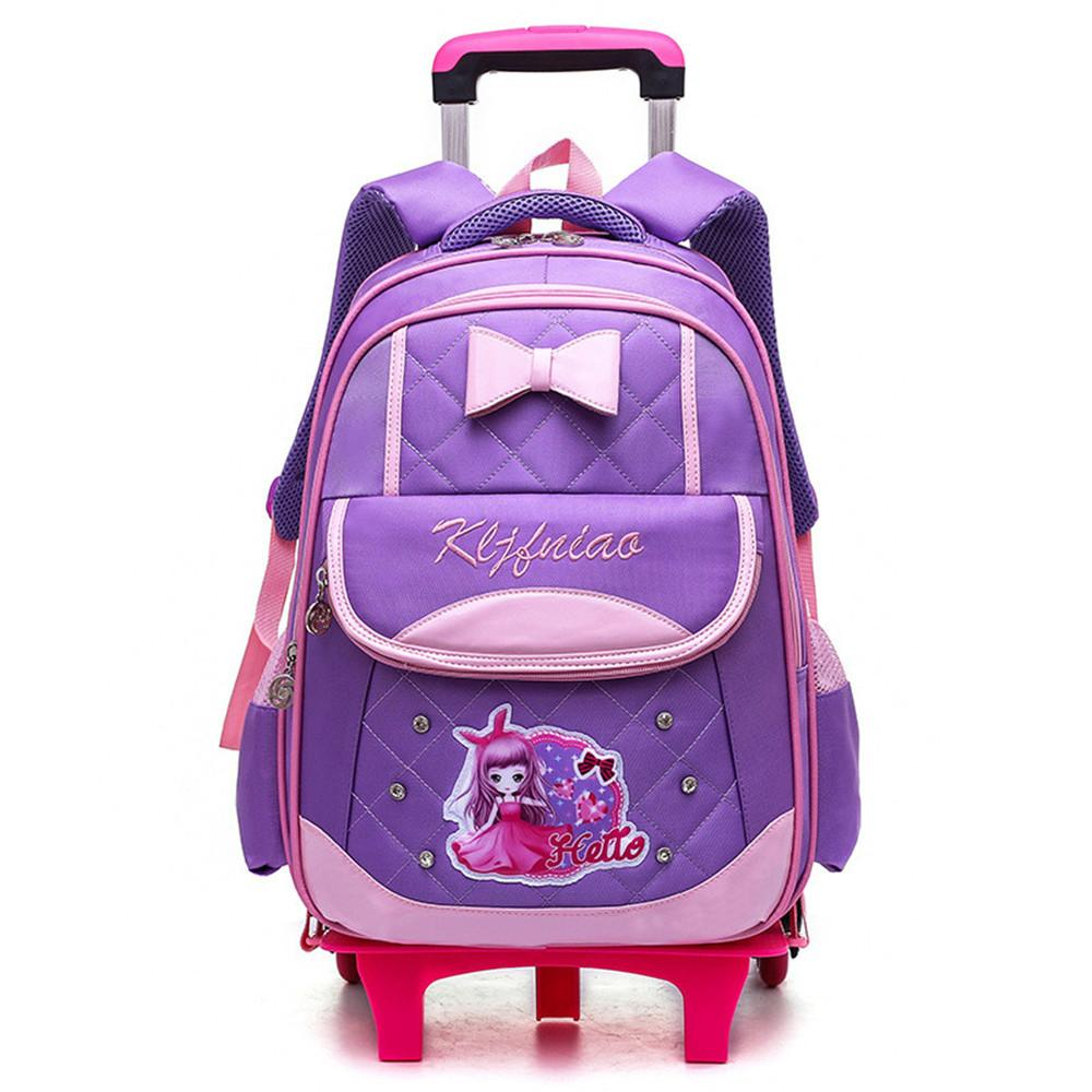027e3163ab96 Removable Children School Bags with 2 6 Wheels for Girls Trolley Backpack  Kids Wheeled Book Bag Travel Luggage Rucksack School Bags Cheap School Bags  ...