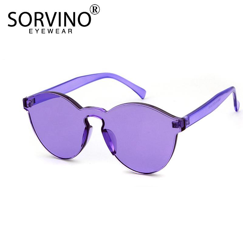 472a9c8fa2 SORVINO Oversized Rimless Cateye Sunglasses Women 2018 Brand Designer 90s  Purple Crystal Sun Glasses Shades Oculos SN118 Oculos Brand Oculos Designer  Cateye ...