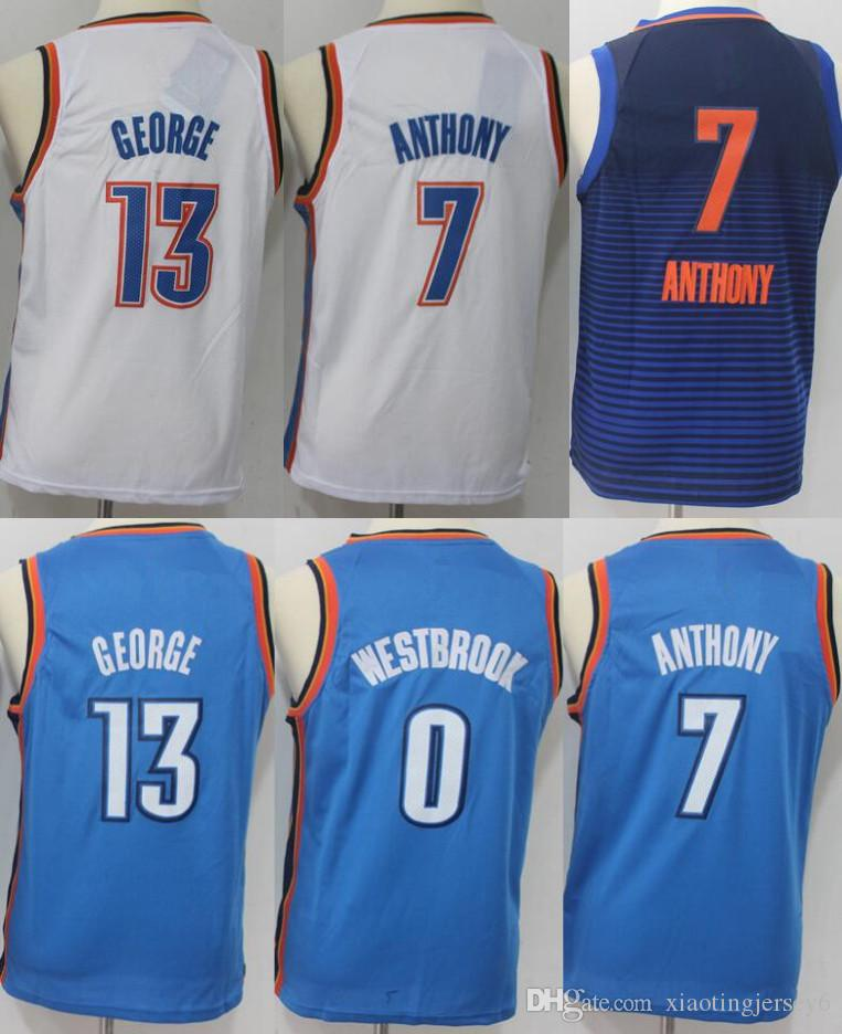 6321b966f25d Cheap 13 Paul George Youth Basketball Jersey 7 Carmelo Anthony 0 ...