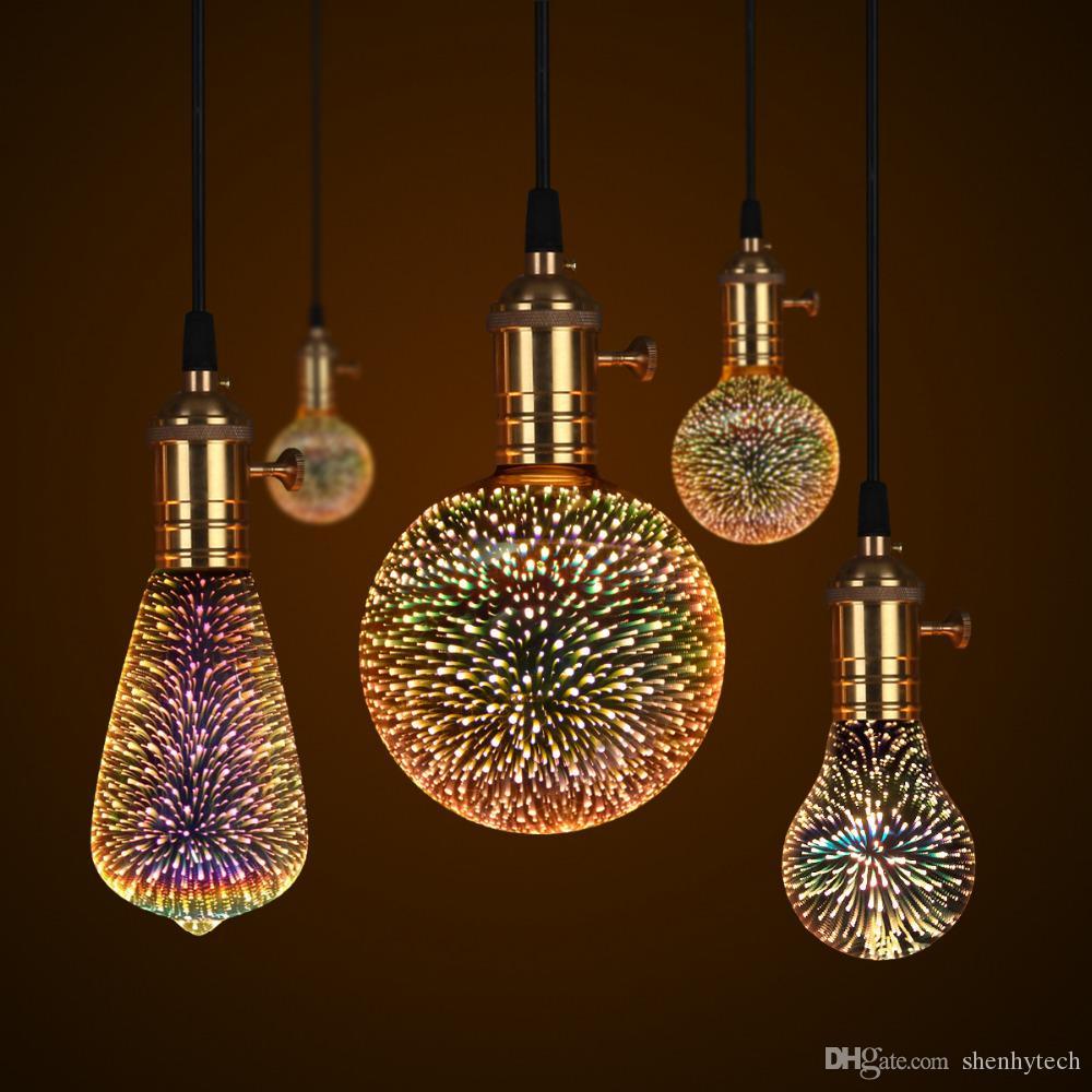110v Bunten Tischlampe Feuerwerk 220v Großhandel Led Effekt E27 3d OPZikXwuT