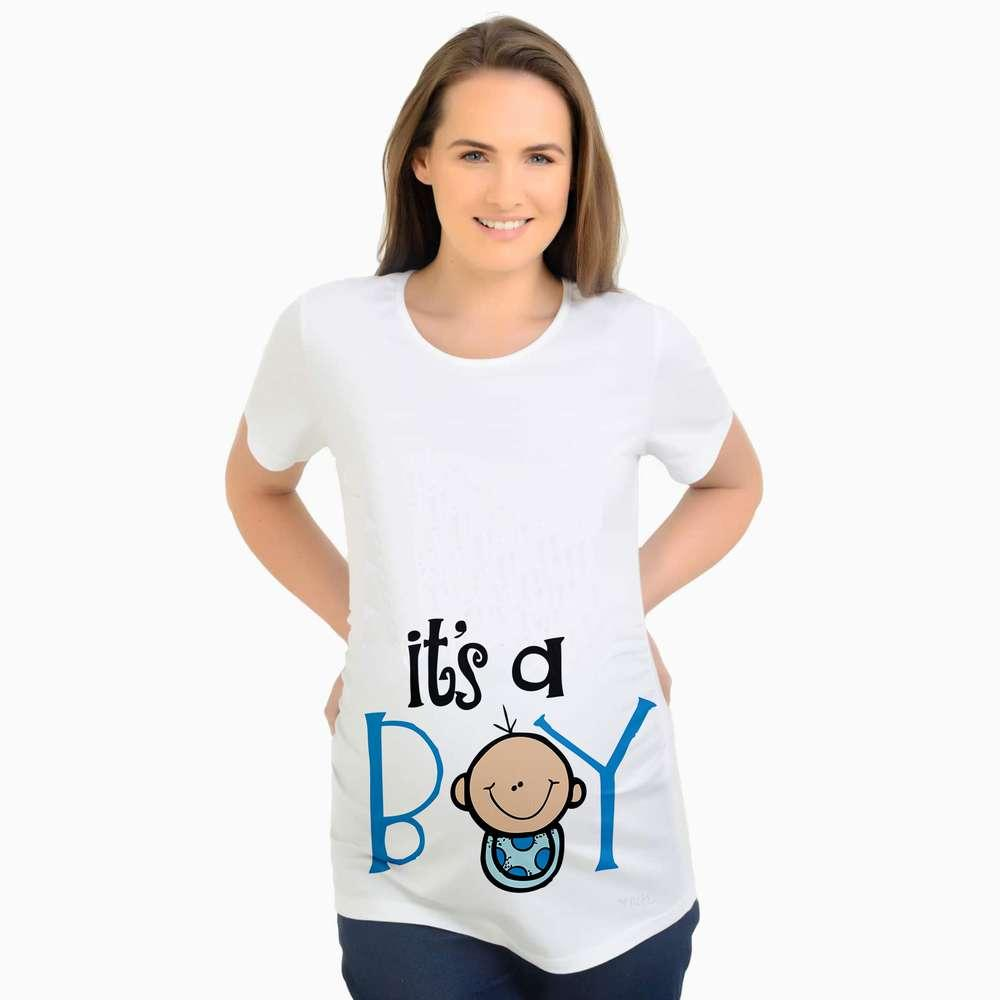 1b2d0b59837f4 2019 European American Plus Size Funny Maternity Shirts Baby Boy Printed T  Shirt Casual Clothes Summer Women Pregnant Tops From Roohua, $22.67 |  DHgate.Com